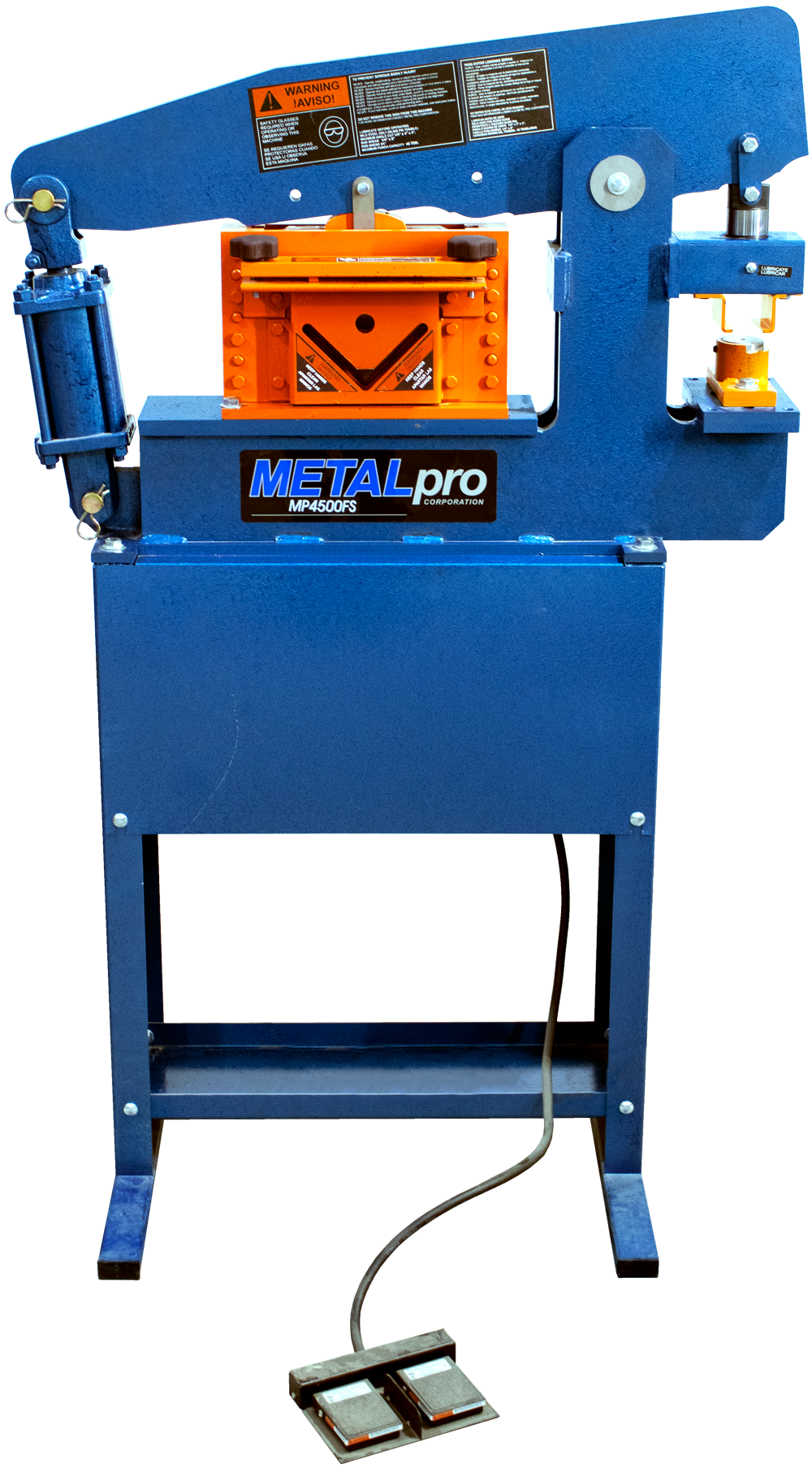 MetalPro 45 Ton ironworker with Footswitch MP4500FS